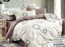 Pościel Collection World 160x200 Ecru - Brąz  100% bawełna wz 896