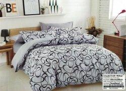 Pościel Collection World 160x200 Szara 100% bawełna wz 963