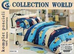 Pościel dla dzieci Collection World Samochody 160x200 100% bawełna wz 216 Samochody