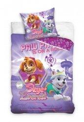 Pościel Psi Patrol Fioletowa dla dziewczynki 140x200 Carbotex 100% bawełna PAW 171038