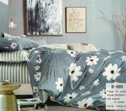 Pościel Mengtianzi Szara w Kwiaty 160x200 100% bawełna B-686