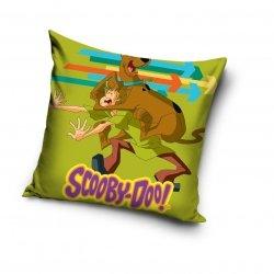 Poszewka Scooby-Doo 40x40 cm Carbotex 100% bawełna. Poszewka dla dzieci Scooby - Doo - Zielona