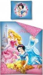Różowa Pościel dla dziewczynki Princess Księżniczki Disney 160x200 Detexpol 100% bawełna