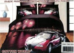 Pościel 3D Samochód Bugatti Veyron Cotton World 160x200 100% mikrowłókno. Pościel 3D z Samochodem