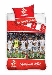 Pościel Reprezentacja Polski PZPN 160x200 Carbotex 100% bawełna wz PZPN 171017 Piłka Nożna