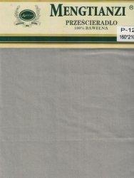 Beżowe prześcieradło bez gumki 160x200 cm 100% bawełna Mengtianzi P-120