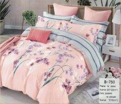 Pościel Mengtianzi Różowa w Kwiaty  200x220 cm 100% bawełna B-750