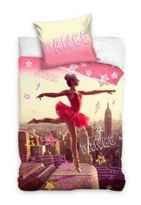 Pościel młodzieżowa 3D dla dziewczynki - Balerina 160x200 Carbotex Kolorowa 100% bawełna  Balerian 163001