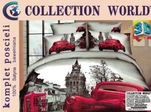 Ekskluzywny komplet pościeli Collection World 3D 160x200 cm Samochód Retro. Pościel 160x200 3D wz 415