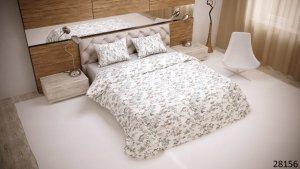 Pościel bawełniana 160x200 Biała w Kwiaty Luxury 100% bawełna. Pościel w Kwiaty 160x200