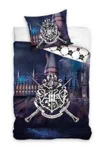 Pościel młodzieżowa Harry Potter -  Hogward  140x200 Carbotex 100% bawełna HP 188010