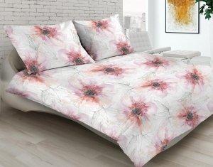 Pościel satynowa Matex Premium 200x220 Różowa w Kwiaty SP-17A