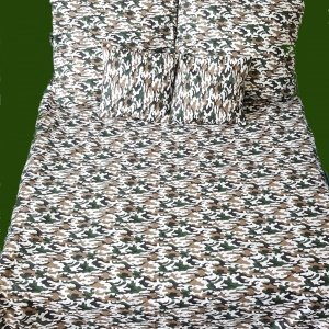 Pościel Moro - Kamuflaż 160x200 100% bawełna. Komplet pościeli z Jaśkami - Moro.