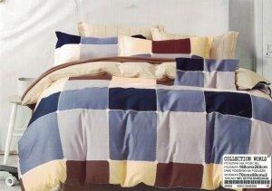 Pościel Collection World 160x200 Kolorowa w Kratkę 100% bawełna wz 958