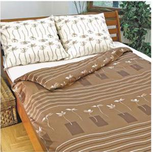 Ekskluzywna pościel satynowa Andropol 160x200 cm 100% bawełna wz. 17 454/1. Beżowa pościel 160x200