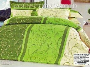 Pościel Collection World 200x220 Zielona 100% bawełna wz 357