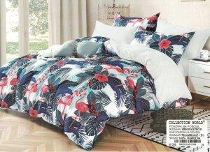Pościel Collection World 200x220 Kolorowa we Flamingi 100% bawełna wz 1399