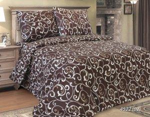 Pościel satynowa Luxury 160x200 Brązowy Żakard 100% bawełna. Pościel Żakard 160x200