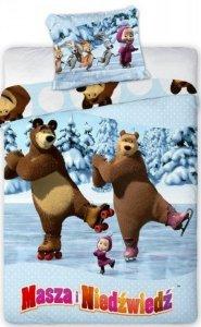 Pościel Masza i Niedźwiedź 160x200 Faro 100% bawełna