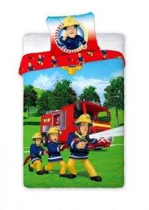 Pościel dla dzieci Strażak Sam 160x200 Carbotex 100% bawełna Różnokolorowa