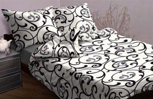 Ekskluzywna pościel satynowa Andropol 160x200 cm 100% bawełna wz. 17758/5 . Biała pościel 160x200