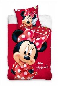 Pościel dla dziewczynki Myszka  Minnie  140x200 cm 100% bawełna. Myszka Minnie pościel. .