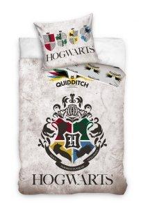 Pościel młodzieżowa Harry Potter - Gryfinfor - Hufflepuff - Ravenclaw - Slytherin   160x200 Carbotex 100% bawełna HP 191061