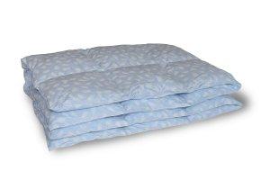 Kołdra półpuch gęsi 160x200 cm Niebieska w białe piórka. Kołdry Polpuch