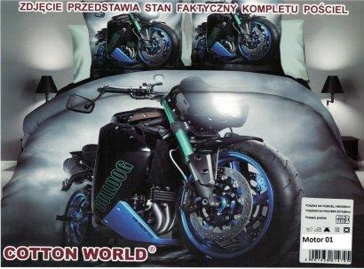Pościel 3D Motor Ścigacz Buldog Cotton World 100% mikrowłókno wz. Motor 01