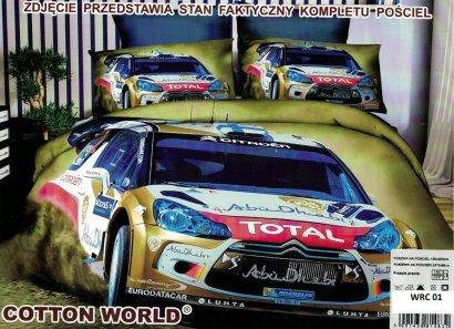 Pościel 3D Rajd WRC Citroen 160x200 Cotton World WRC 01