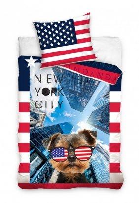Pościel młodzieżowa 3D 140x200 Nowy York City - Carbotex 100% bawełna Nowy Jork