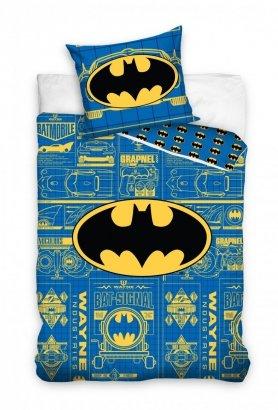Pościel Batman 160x200 Niebieska - Carbotex 100% bawełna wz. BAT 3001