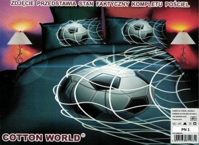Pościel 3D Piłka Nożna 160x200 Cotton World 100% mikrowłókno wz. PN1