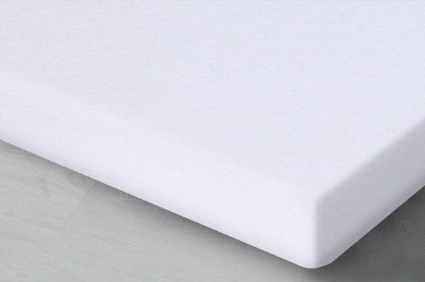 Białe prześcieradło Jersey z gumką 160x200 Oritex
