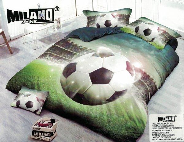Pościel młodzieżowa 3D Piłka Nożna 160x200. Pościel z Piłką Nożną