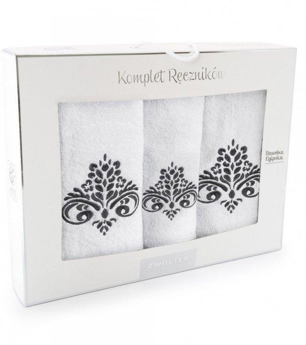 Komplet ręczników kąpielowych Zwoltex Sułtan Biały 3 Częściowy