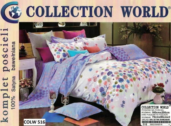 Pościel Collection World 160x200 100% bawełna wz 516