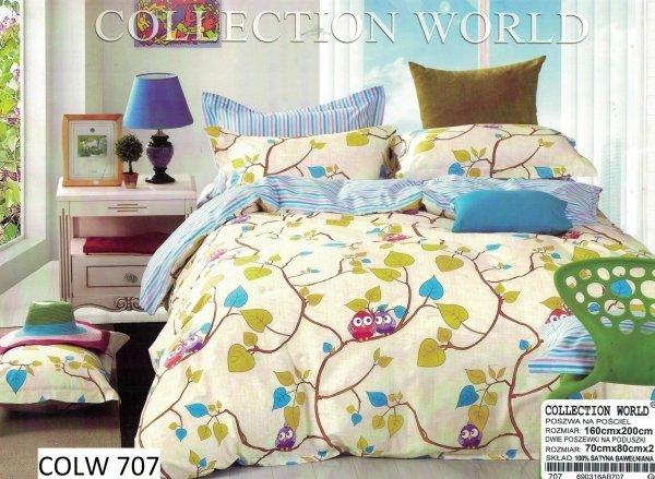 Pościel Collection World dla dzieci Sówki 160x200 wz 707