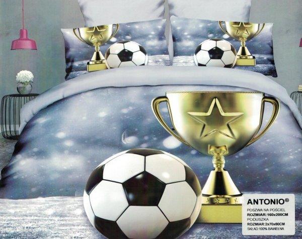 Pościel Piłka Nożna 3D 160x200 Milano Pościel Puchar Piłka Nożna