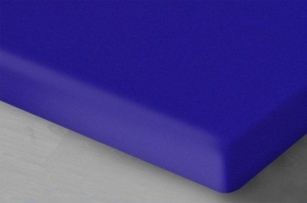 Niebieskie prześcieradło Jersey 160x200 oritex