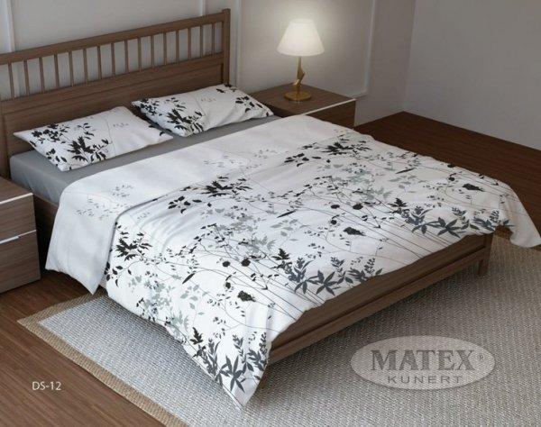 Pościel bawełniana 200x220 Biała w Kwiaty Matex DS-12