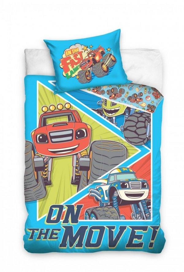 Pościel dla niemowląt Blaze 100x135 Carbotex Niebieska