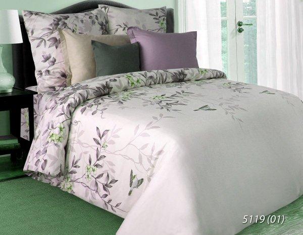 Jasno Różowa pościel w Kwiaty 160x200  bawełna satynowa 5119 - 01