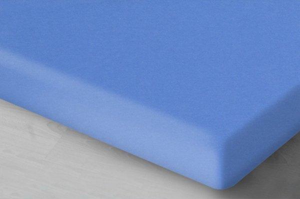 Niebieskie prześcieradło Jersey z gumką 140x200