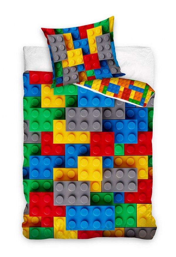 Bawełniana pościel dla dzieci Klocki 140x200