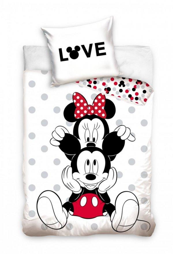 Pościel dla dzieci i Młodzieży Myszka Mickey i Minnie 140x200