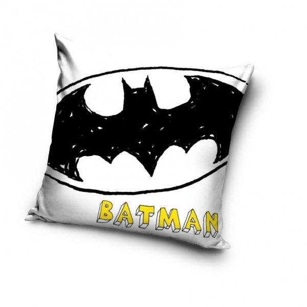 Biała poszewka Batman 40x40 cm