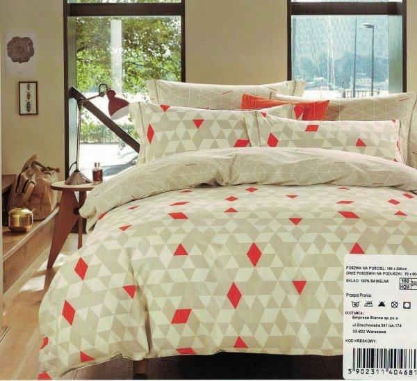 Beżowa pościel Cotton World 160x200 100% bawełna wz 501