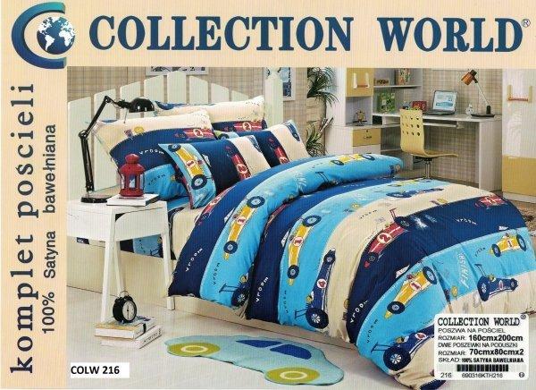Pościel Collection World dla dzieci. Pościel z samochodzikami dla chłopca 160x200 cm