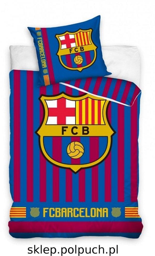 Pościel Barcelona Piłka Nożna 160x200 cm Carbotex wz FCB 182013